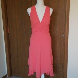 Bisou Bisou coral dress sz 4. EUC